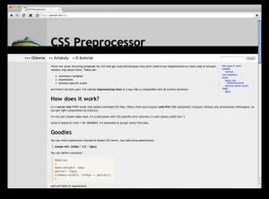 CSS Preprocessor