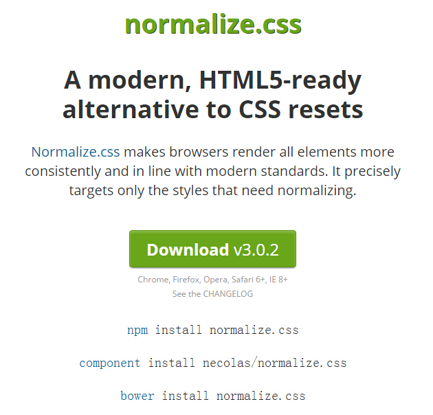 Normalize.css VS reset.css 重置浏览器默认样式