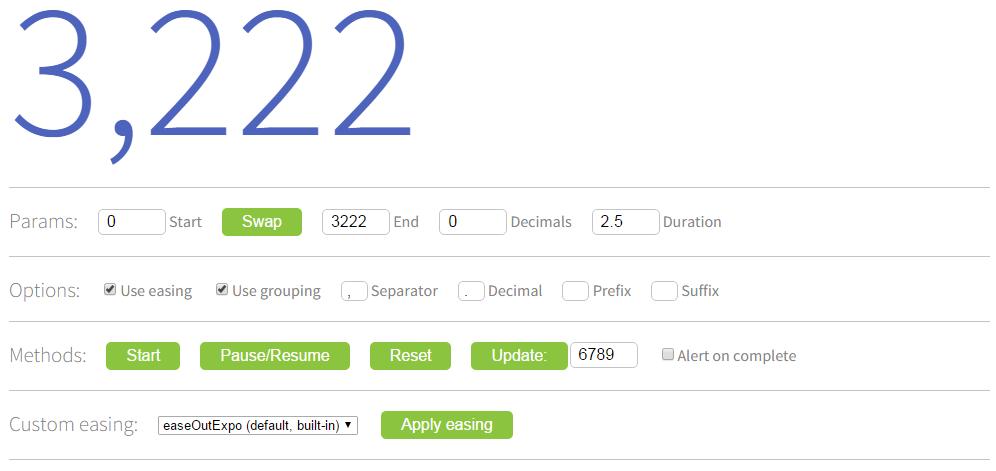 countUp.js实现有趣动画方式展示数字变化